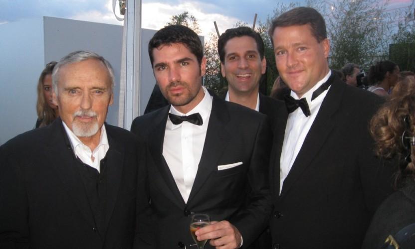 Dennis Hopper, Eduardo Verastegui and Sean Wolfington at Cannes
