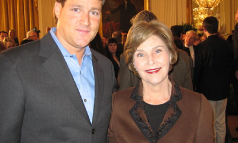 Sean Wolfington & Laura Bush