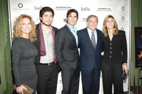Kathie Lee Gifford, Alejandro Monteverde, Eduardo Verastegui, Tony Bennett and Susan Benedetto