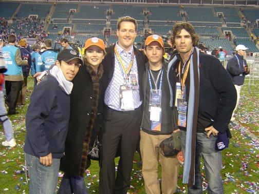 Bella Team on the field at Super Bowl XXXIX
