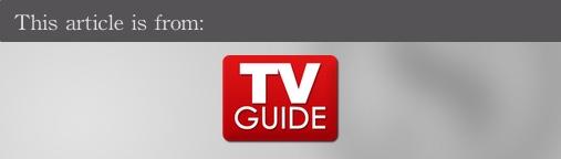 External articles - TV Guide